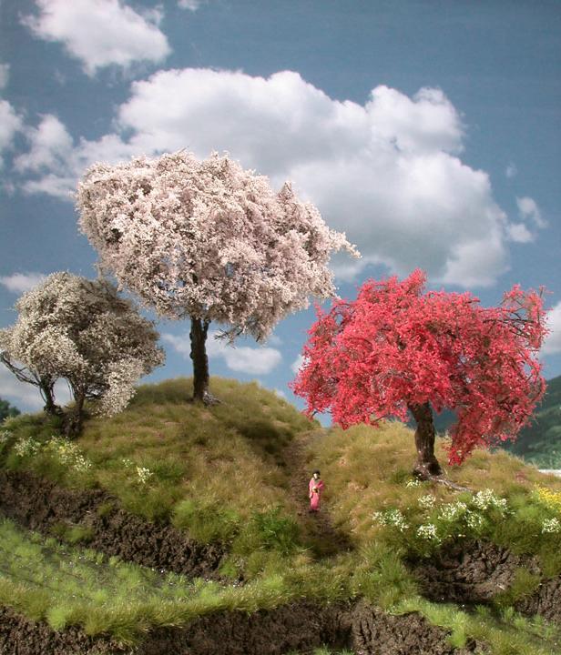 kirschbaum 1 87 rosa modellbaum miniaturmodelle. Black Bedroom Furniture Sets. Home Design Ideas